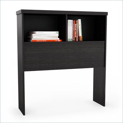 Sonax Willow Bookcase Headboard in Ravenwood Black