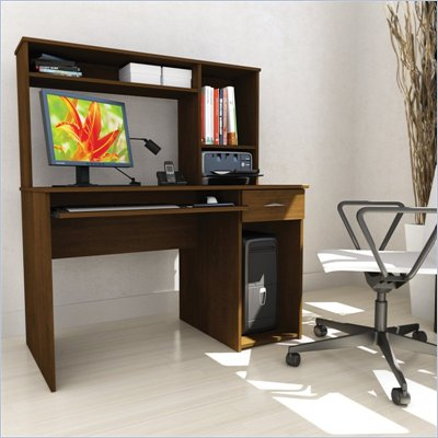 Sonax Workspace 47&quot; Desk with Keyboard Tray and Hutch