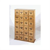 Leslie Dame 24-Drawer CD Media Storage Cabinet in Oak