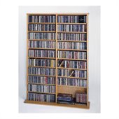 Leslie Dame CD/DVD Wall Rack Media Storage in Oak