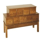 Leslie Dame 9-Drawer CD/DVD Storage Cabinet in Oak