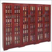 Leslie Dame CD/DVD Wall Rack Media Storage Unit in Dark Cherry