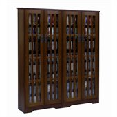 Leslie Dame Double CD/DVD Wall Rack Media Storage in Walnut