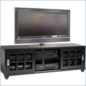 Leslie Dame Wood Flat Panel/Plasma/LCD TV Stand in Black Finish
