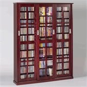 Leslie Dame Triple CD/DVD Wall Rack Media Storage in Dark Cherry