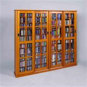 Leslie Dame 4-Door Glass CD/DVD Wall Rack Media Storage
