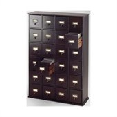 Leslie Dame Library Card File Multimedia Cabinet in Espresso