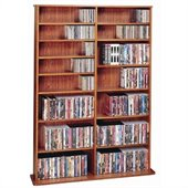 Leslie Dame Oak Veneer High Capacity Wall Rack in Cherry