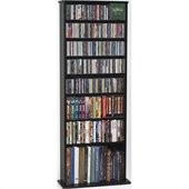 Leslie Dame Oak Veneer High Capacity Wall Rack in Black