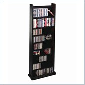 Leslie Dame Deluxe CD/DVD Multimedia Storage Wall Unit in Black