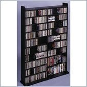 Leslie Dame Deluxe CD/DVD Media Storage Wall Unit Rack in Black