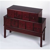 Leslie Dame 9-Drawer CD/DVD Storage Cabinet in Cherry