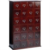 Leslie Dame 24-Drawer CD Media Storage Cabinet in Cherry