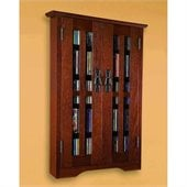 Leslie Dame CD/DVD Wall Hanging Mission Multimedia Cabinet in Walnut