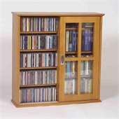 Leslie Dame Mission Wall Hanging Two Sliding Door CD/DVD Cabinet