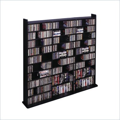 Leslie Dame Deluxe CD/DVD Media Storage Wall Unit in Black