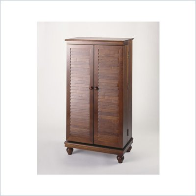 Leslie Dame CD/DVD Wall Rack Media Storage Cabinet in Merlot