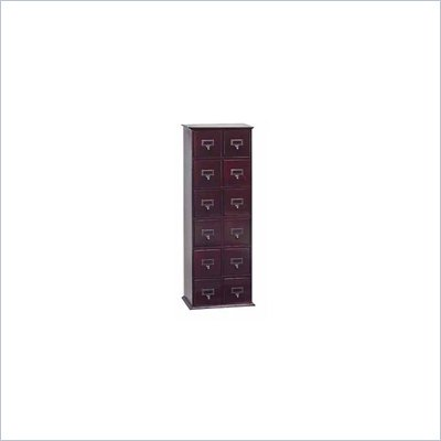 Leslie Dame Tall CD Storage Cabinet in Cherry