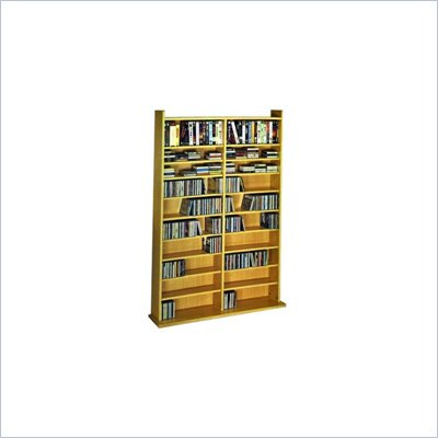 Leslie Dame Deluxe CD/DVD  Media Storage Wall Unit Rack in Oak