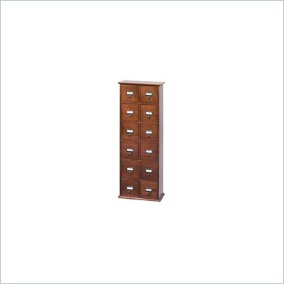 Leslie Dame Tall CD Media Storage Cabinet in Walnut