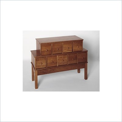 Leslie Dame 9-Drawer CD/DVD Storage Cabinet in Walnut