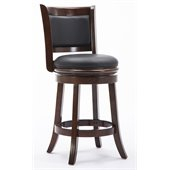 Boraam Augusta 24 Swivel Counter Stool in Cappuccino