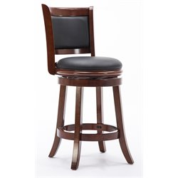 Boraam Augusta 24 Swivel Counter Stool in Dark Cherry