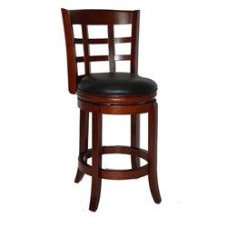 Boraam Kyoto 24 Swivel Counter Stool in LT. Dark Cherry