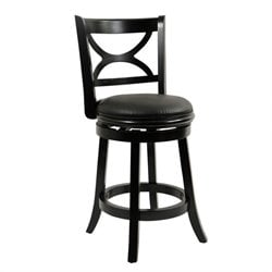 Boraam Florence 24 Swivel Counter Stool in Black Sandthru