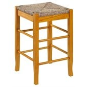 Boraam Square Rush 24 Stationary Counter Stool in Oak
