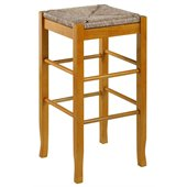 Boraam Square Rush 29 Stationary Bar Stool in Oak