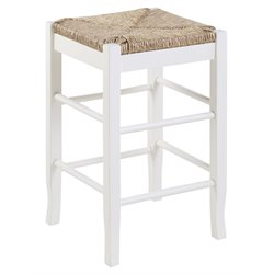 Boraam Square Rush 24 Stationary Counter Stool in White