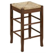 Boraam Sq Rush 24 Stationary Counter Stool in Cappuccino