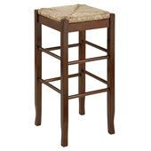 Boraam Sq Rush 29 Stationary Bar Stool in Cappuccino