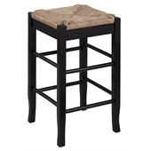 Boraam Sq Rush 24 Stationary Counter Stool in Black