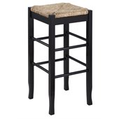 Boraam Sq Rush 29 Stationary Bar Stool in Black