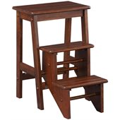 Boraam 24 Stationary Bar Step Stool in Cappuccino
