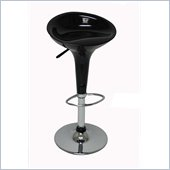 Boraam ABS Adjustable Scoop Bar Stools in Black (Set of Two)