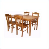 Boraam Shaker 5 Piece Dining Set in Oak
