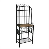 Boraam Praha 4 Shelf Baker's Rack in Black