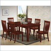 Boraam Grantsville 7 Piece Dining Set in Cherry