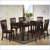 Boraam Grantsville 7 Piece Dining Set in Cappuccino