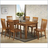Boraam Grantsville 7 Piece Dining Set in Fruitwood