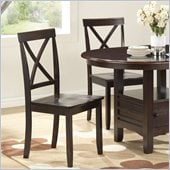 Boraam Madison Dining Chair in Cappuccino (Set of 2)