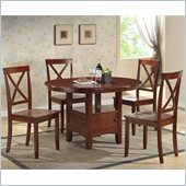 Boraam Madison 5 Piece Dining Set in Cherry