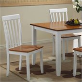 Boraam Bloomington Dining Chair in White/Honey Oak (Set of 2)