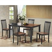 Boraam Bloomington 5 Piece Dining Set in Black/Cherry