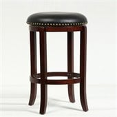 Boraam Cordova 24 Swivel Bar Stool in Cherry