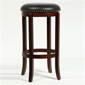 Boraam Cordova 29” Swivel Bar Stool in Cherry