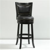 Boraam 29 Bristol Swivel Stool in Black